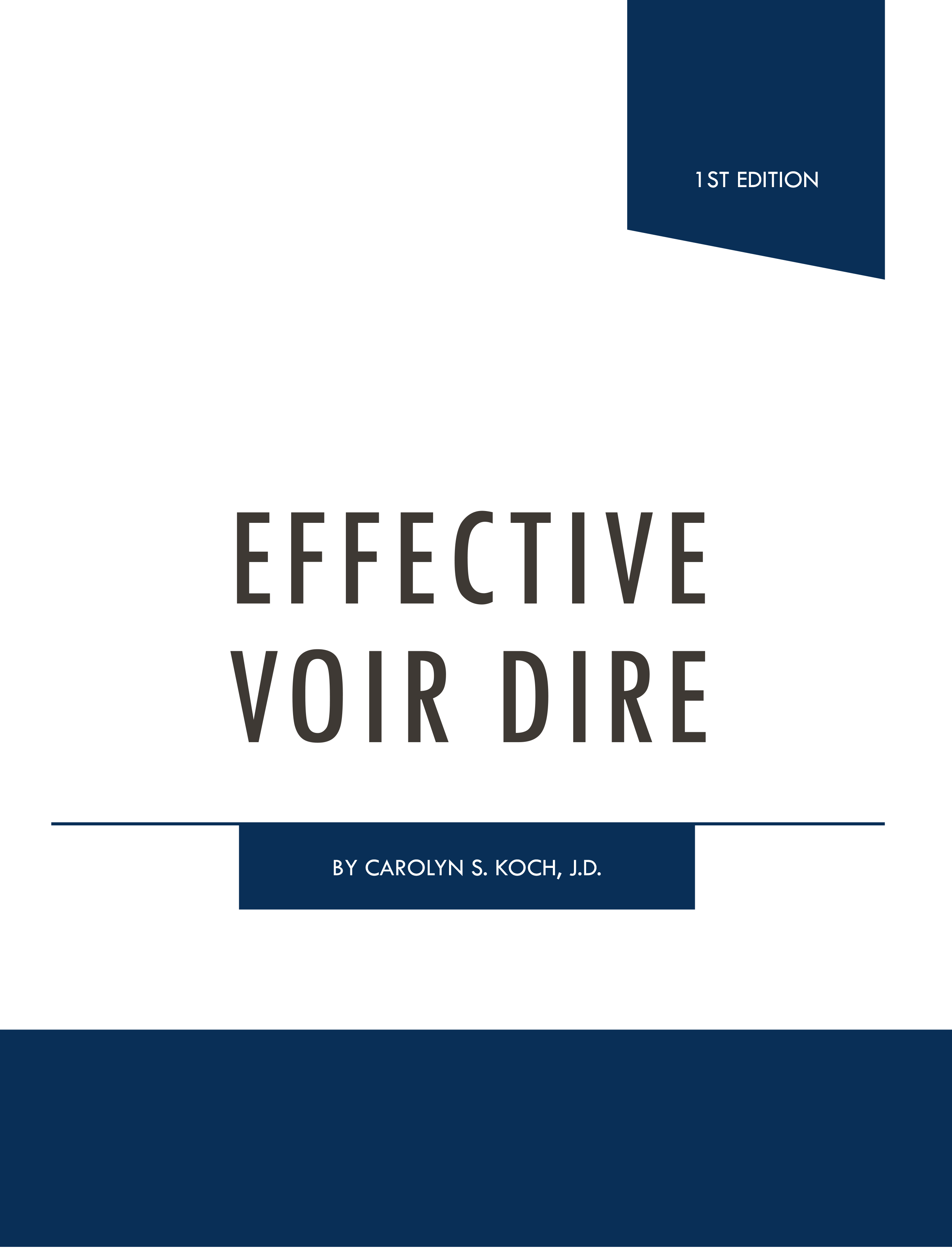 effective voir dire book by carolyn koch