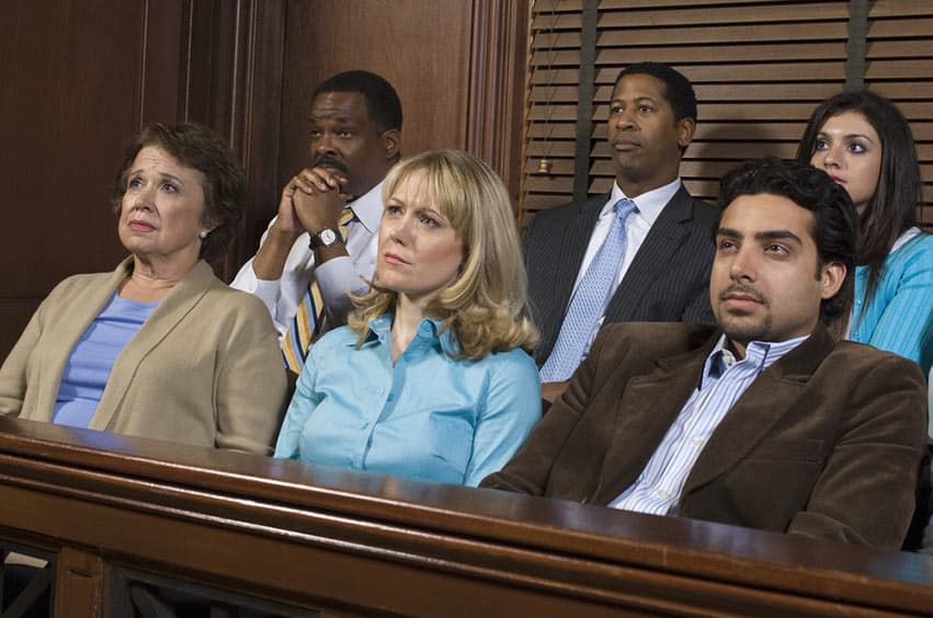 Jurors listening to a boring opening statement